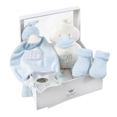 coffret naissance bambam bleu bambam cadeau naissance bebe. Black Bedroom Furniture Sets. Home Design Ideas