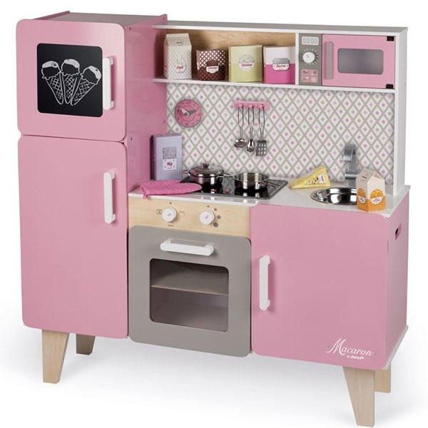 maxi cuisine rose macaron pour fille de 3 8 ans janod bebe. Black Bedroom Furniture Sets. Home Design Ideas