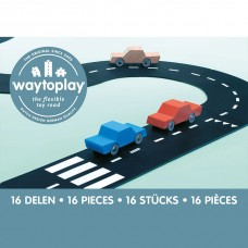 Circuit Voitures Flexible 16 pièces, Coffret Route Nationale Way to Play