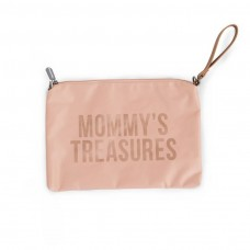 Sac Pochette Mommy's Treasures rose Idée Cadeau Maman Childhome