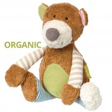 Peluche Bio Coton Organique Patchwork Ours Green Sigikid