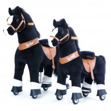 Cheval à roulettes Blacky White, Pony Cycle Small & Medium, Livraison Gratuite