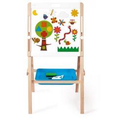 Tableau noir et blanc pour enfants, avec aimants et rouleau de papier, Scratch