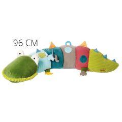 Grande Peluche coussin d'activités 96 cm Crocodile's Friends Sigikid