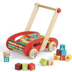 ABC Buggy Tatoo, Chariot de marche avec cubes Janod