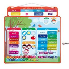Agenda Magnétique, l'enfant apprend la notion du temps, Une belle journée Janod