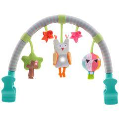 Arche Musicale à cliper sur poussette ou siege, Eveil bébé Hibou Taf Toys