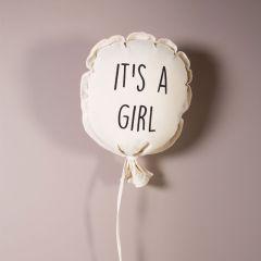 Ballon It's A Girl Décoration Chambre Bébé, Toile 100% Coton Childhome