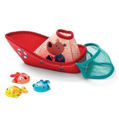 Bateau de pêche Jouet pour le bain de bébé 4 pièces Lilliputiens