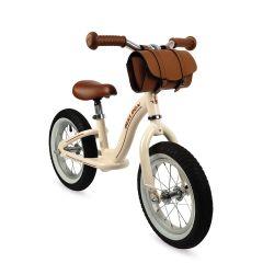 Draisienne en métal, Vélo sans pédale 3 à 6 ans, Vintage beige de Janod