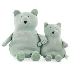 Peluche Trixie pur Coton biologique, Tissus durables et recyclé à 100%, 2 tailles à choix, dès la naissance, ours polaire