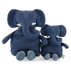 Peluche Trixie pur Coton biologique, Tissus durables et recyclé à 100%, 2 tailles à choix, dès la naissance, éléphant