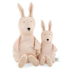 Peluche Trixie pur Coton biologique, Tissus durables et recyclé à 100%, 2 tailles à choix, dès la naissance, lapin rose