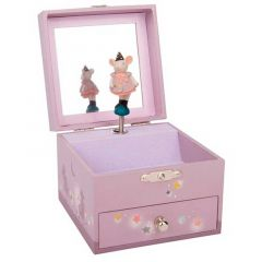 Boîte à bijoux musicale Moulin Roty, Souris, Idée Cadeau Fille 2 ans