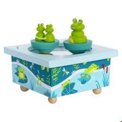 bite à musique trousselier grenouilles vertes