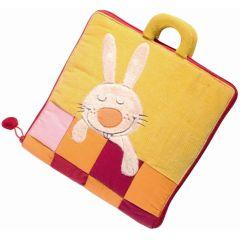 Bonsoir Petit Lapin, grand livre en tissu pour bébé et enfant Lilliputiens (version sans texte)