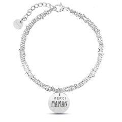 Bracelet Maman, Cadeau Fête des Mères, Idée Cadeau à personnaliser, argent Aaina & Co