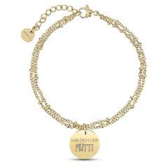 Bracelet Maman, Cadeau Fête des Mères, Idée Cadeau à personnaliser, or jaune Aaina & Co