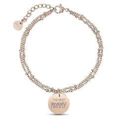 Bracelet Maman, Cadeau Fête des Mères, Idée Cadeau à personnaliser, or rose Aaina & Co