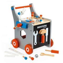 Chariot Magnétique Brico Kids pour apprendre à marcher tout en s'amuser, Janod