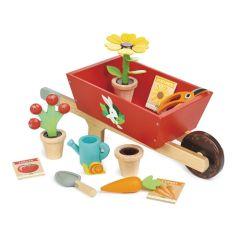 Brouette en bois Jouet avec Accessoires, Jouet dès 3 ans, Tender Leaf Toys