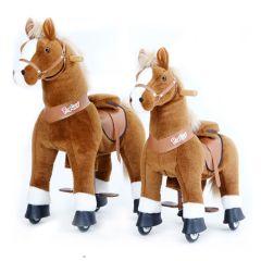 Cheval à roulettes, Gros cadeau, 2 tailles à choix Pony Cycle, brun, Livraison Gratuite