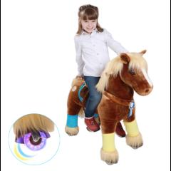 Premium Poney Caramel à roulettes qui clignotent, Pony Cycle Medium 4 - 9 ans, Livraison Gratuite