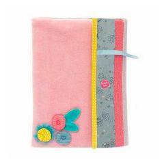 Housse carnet de santé rose, Cadeau Prénom Bébé Fille, Moulin Roty