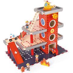 Caserne de pompiers Jouet en bois Enfant de 3 à 8 ans Janod