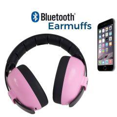 Casque Anti Buit avec Bluetooth, Casque Audio Garçon double usage protéger les oreilles et écouter de la musique, Banz rose