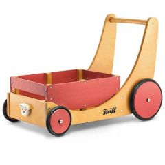 Steiff Chariot de marche en Bois, avec emplacement pour transporter les jouets, Livraison Gratuite