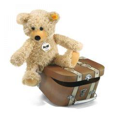 Peluche Steiff et Valise, Ours Teddy-pantin Charly, Coffret Cadeau Haut de Gamme