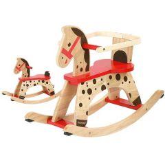 Cheval à bascule en bois pour enfants dès 1 an Caramel Janod