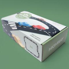 Circuit Voitures Flexible 24 pièces, Coffret Autoroute pour jouer en intérieur comme à l'extérieur Way to Play