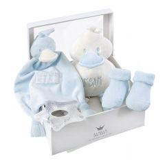 Coffret de naissance Bambam bleu, cadeau de naissance garçon, Livraison Gratuite