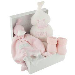 Coffret de naissance Bambam rose, idée cadeau naissance fille, Livraison Gratuite, Boutique Suisse