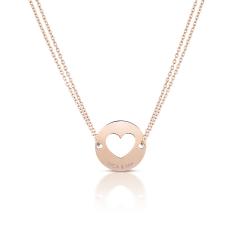 Collier Or Rose Coeur pour Maman, Cadeau pour future Maman, Cadeau Naissance à personnaliser, Aaina & Co