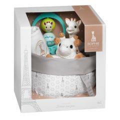 Coffret de naissance Sophie la Girafe, Corbeille, cadeau de naissance