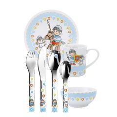 Vaisselle et Services Enfant, Couverts à graver Garçon Chevalier, 7 pièces Puresigns