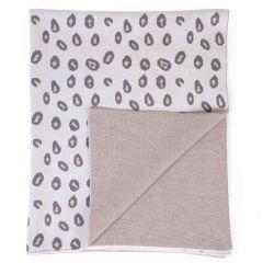 couverture bébé léopard, à personnaliser