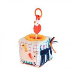 Cube sonore d'activités Bébé, La Ferme Idée Cadeau Bébé dès 9 mois, Lilliputiens