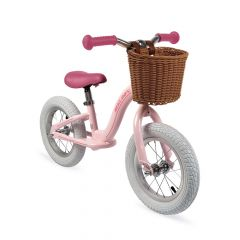 Draisienne métal avec panier, Vélo sans pédale pour Fille 3 à 6 ans, Bikloon Vintage rose de Janod