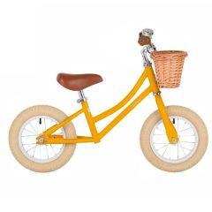 Draisienne Bobbin Enfant dès 2 ans, Vélo jaune 12 pouces sans Pédale style retro