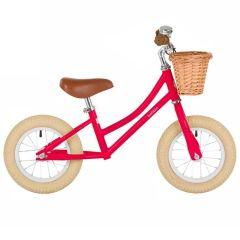 Draisienne Bobbin Enfant dès 2 ans, Vélo cerise 12 pouces sans Pédale style retro