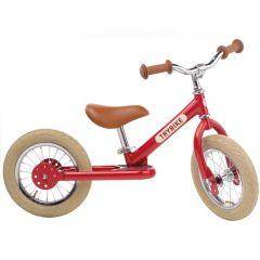 Premier Petit Vélo Trybike Vintage en acier, draisienne 2 roues 12 pouces, convertible en 3 roues rouge, Livraison Gratuite