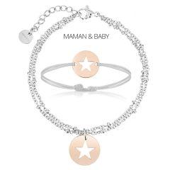 Duo Bracelets Maman/Bébé, Cadeau mère fille/fils, Bijoux à personnaliser, Aaina & Co