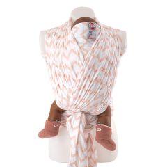 Echarpe Bébé Tissu Respirant Portage Facile 100% coton hydrophile, pour Bébé dès la naissance, Lodger rose, Livraison Gratuite