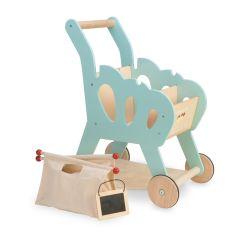 Caddie de Courses Le Toy Van, Bois et Tissus, Garçon ou Fille dès 3 ans, Livraison Gratuite, Boutique Suisse