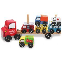 Empilauto jouet en bois avec voitures dès 2 ans Vilac