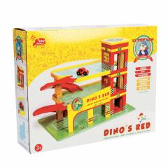 Garage avec Parking de Dino, Le Toy Van, en bois, dès 3 ans, Livraison Gratuite, Boutique Suisse